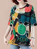 ieftine Tricou-Pentru femei Tricou Vintage - Mată Franjuri Alb negru