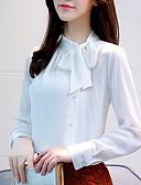 preiswerte Damen Tank-Shirts & kurze Jäckchen-Damen Solide Arbeit Baumwolle Bluse