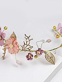 baratos Vestidos de Coquetel-Strass / Liga Cadeia da cabeça com Floral 1 Peça Casamento / Ocasião Especial Capacete