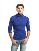 tanie Koszulki i tank topy męskie-Puszysta T-shirt Męskie Podstawowy / Moda miejska, Patchwork Golf Szczupła - Solidne kolory / Długi rękaw