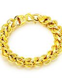 ieftine Maieu & Tricouri Bărbați-Bărbați Link / Lanț Brățări cu Lanț & Legături Brățări Bangle Handmade Link Bracelet - Teak, Placat Auriu Declarație, Lux, Modă Brățări Auriu Pentru Cadou Anul Nou