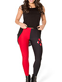 ieftine Leggings-Pentru femei De Bază Legging - Bloc Culoare Talie medie