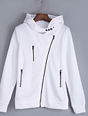 cheap Quartz Watches-women's long sleeve hoodie - solid colored hooded