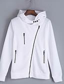 tanie Skarpety i pończochy-damska bluza z kapturem z długim rękawem - jednolity kolor z kapturem