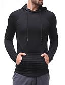 povoljno Muške košulje-Muškarci Veći konfekcijski brojevi Osnovni / Ulični šik Dugih rukava Duga Hoodie Jednobojni S kapuljačom