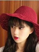 رخيصةأون قبعات نسائية-قبعة صغيرة سادة أساسي / عطلة للمرأة