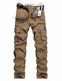 olcso Férfi nadrágok és rövidnadrágok-Férfi Alap Pamutszövet nadrág Nadrág - Egyszínű Fekete
