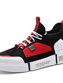 זול טישרטים לגופיות לגברים-בגדי ריקוד גברים רשת / PU סתיו חורף נוחות נעלי ספורט קולור בלוק אדום / ירוק / חאקי