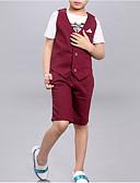 tanie Koszulki i tank topy męskie-Dzieci Dla chłopców Podstawowy Nadruk Bez rękawów Bawełna Komplet odzieży