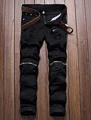 お買い得  メンズパンツ&ショーツ-男性用 ベーシック チノパン パンツ - 幾何学模様 ブラック
