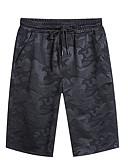 povoljno Muške duge i kratke hlače-Muškarci Veći konfekcijski brojevi Pamuk Slim Chinos / Kratke hlače Hlače Jednobojni