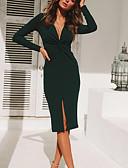 povoljno Dresses For Date-Žene Osnovni / Ulični šik Korice Haljina - S izrezom, Jednobojni Mini / Do koljena