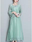 tanie Sukienki-Damskie Wyjściowe Linia A Sukienka Midi