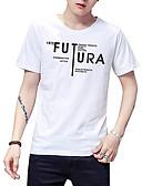 povoljno Muške majice i potkošulje-Majica s rukavima Muškarci - Ulični šik Dnevno Slovo