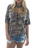 ieftine Tricou-tricou pentru femei - camuflaj cu capișon