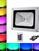 billige Damekjoler-1pc 10 W LED-lyskastere / plen Lights Vanntett / Fjernstyrt / Nytt Design RGB 85-265 V Utendørsbelysning / Courtyard / Have 1 LED perler