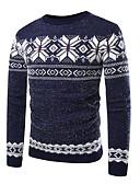 זול סוודרים וקרדיגנים לגברים-קולור בלוק - סוודר בסיסי בגדי ריקוד גברים