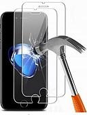 Недорогие Защитные плёнки для экрана iPhone-AppleScreen ProtectoriPhone 7 Plus HD Защитная пленка для экрана 2 штs Закаленное стекло