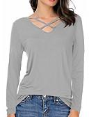 ieftine Bluze & Camisole Femei-Pentru femei În V Tricou Bumbac Mată