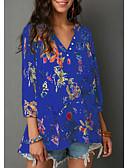 ieftine Bluză-Pentru femei Tricou De Bază / Șic Stradă - Floral / Bloc Culoare / Animal Imprimeu Tropical Leaf