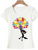 abordables Camisetas para Mujer-Mujer Básico Estampado Camiseta Animal Gato