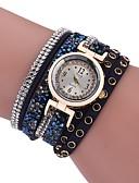 ieftine Quartz-Pentru femei Ceas Brățară Quartz Model nou Ceas Casual imitație de diamant PU Bandă Analog Casual Modă Negru / Alb / Albastru - Gri Maro Albastru Un an Durată de Viaţă Baterie