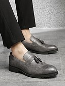 ieftine Ceasuri de Lux-Bărbați Pantofi rochie Piele Primăvară Englezesc Mocasini & Balerini Negru / Gri / Maro / Franjuri / Party & Seară