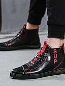 זול חולצות לגברים-בגדי ריקוד גברים נעלי נוחות דמוי עור סתיו פרפי נעלי ספורט סִיסמָה שחור / שחור אדום