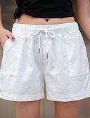 tanie Damskie spodnie-Damskie Bawełna Luźna Szorty Spodnie Solidne kolory