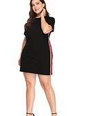baratos Vestidos Plus Size-Mulheres Para Noite Bainha Vestido Acima do Joelho