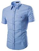 billige T-skjorter og singleter til herrer-Menn går ut skjorte - solid farget skjorte krage
