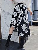 זול שמלות מודפסות-גיאומטרי - חצאיות א-סימטרי גזרת A בגדי ריקוד נשים