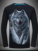 abordables Camisetas y Tops de Hombre-Hombre Vintage Camiseta Animal Lobo