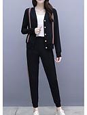 baratos Blusas Femininas-Mulheres Conjunto Listrado Calça
