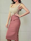 رخيصةأون فساتين نسائية-طول الركبة مع حمالة عالي الخصر فستان غمد ضعيف ذهاب للخارج للمرأة