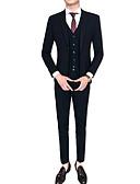 povoljno Muške jakne i kaputi-odijela Muškarci Houndstooth,Klasični rever / Dugih rukava / Rad