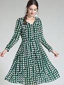 ieftine Tricou-Pentru femei Tricou Rochie Plisat Sub Genunchi