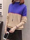 povoljno Bluza-Žene Dnevno Color block Dugih rukava Regularna Pullover, Uski okrugli izrez Blushing Pink / Vojska Green / Žutomrk L / XL / XXL
