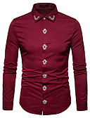 cheap Men's Sweaters & Cardigans-Men's Shirt - Solid Colored Jacquard