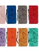 זול מגנים לטלפון-מגן עבור LG LG X Power / LG V30 / LG V20 ארנק / מחזיק כרטיסים / עם מעמד כיסוי מלא פרפר קשיח עור PU