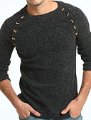 cheap Men's Sweaters & Cardigans-Men's Basic Pullover - Solid Colored