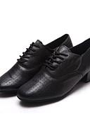 halpa Mekot-Naisten Tanssikengät Nahka Kengät moderniin tanssiin Oxford-kengät / Korkokengät Paksu kantapää Musta / Suoritus / Harjoittelu