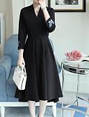 baratos Vestidos Plus Size-Mulheres Para Noite balanço Vestido Decote V Médio