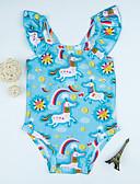 povoljno Kupaći za djevojčice-Djeca Djevojčice Jednobojni / Geometrijski oblici Kupaći kostim