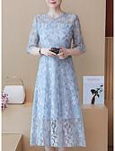 tanie Sukienki-Damskie Puszysta Spodnie - Solidne kolory Koronka Niebieski / Wyjściowe