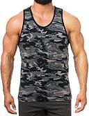 ieftine Maieu & Tricouri Bărbați-Bărbați Rotund Tank Tops Sport camuflaj / Fără manșon
