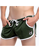 preiswerte Exotische Herrenunterwäsche-Herrn Baumwolle / Polyester Gespleisst / Druck, Solide / Einfarbig / Buchstabe - Boxer 1pc Niedrige Taillenlinie