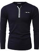 preiswerte Herren Pullover & Strickjacken-Herrn Alltag Solide Langarm Standard Pullover, V-Ausschnitt Schwarz / Rote / Marineblau XL / XXL / XXXL