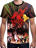 ieftine Maieu & Tricouri Bărbați-Bărbați Tricou Curcubeu Imprimeu
