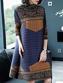 זול עליוניות לנשים-מעל הברך מנוקד / קולור בלוק / משובץ - שמלה נדן בסיסי / אלגנטית בגדי ריקוד נשים
